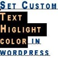 text highlight color wordpress