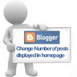 change number posts blogger homepage