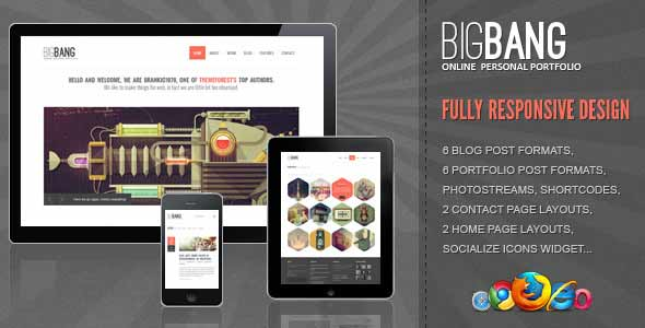 Big bang top popular wordpress theme