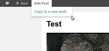 Duplicate a wordpres post or page