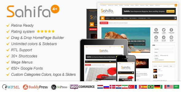 sahifa top selling blog theme