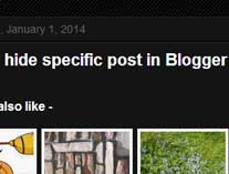 How to hide a blog post in Blogger - Hiding specific posts from homepage