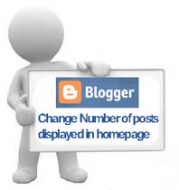 change number of posts displayed on Blogger homepage