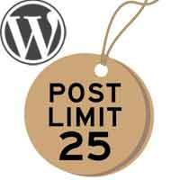 How to limi/ change number of posts in wordpress archive pages, category, tag