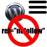 How to make wordpress menu links nofollow - add nofollow to menu item