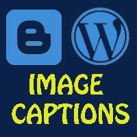 How to add caption to images in wordpress and blogger - image captions