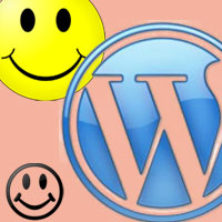 Smiley face in wordpress footer, what is it and how to remove it?