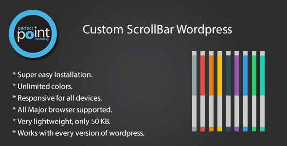Custom scrollbar wordpress
