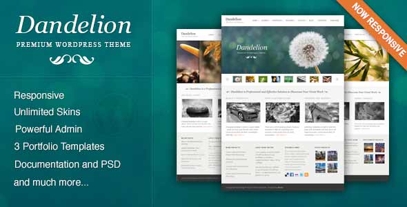 dandelian top selling wp theme