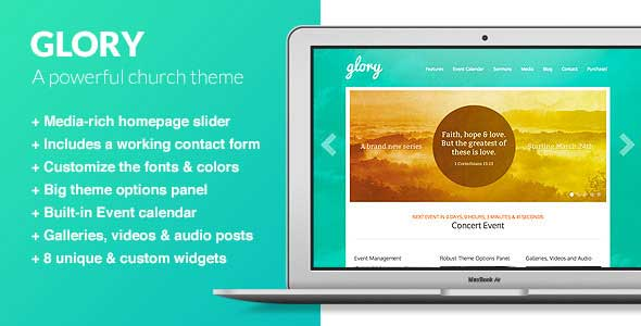 glory church wordpress theme