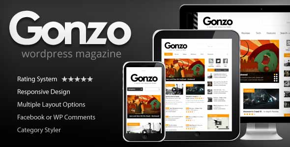 Gonzo best selling theme wordpress