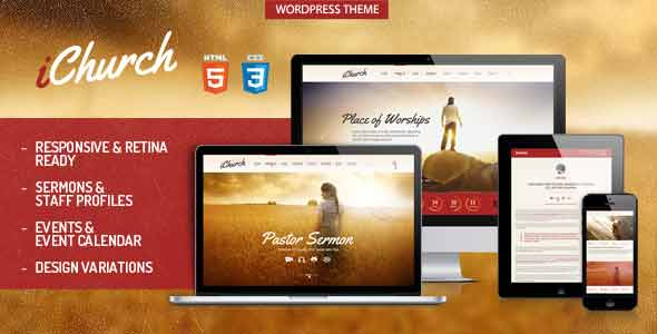iChurch responsive retina wordpress theme