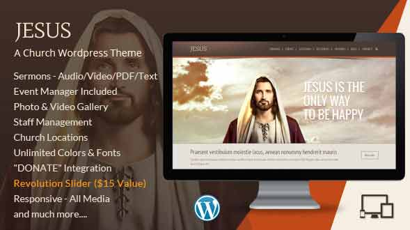 Jesus wordpress theme download