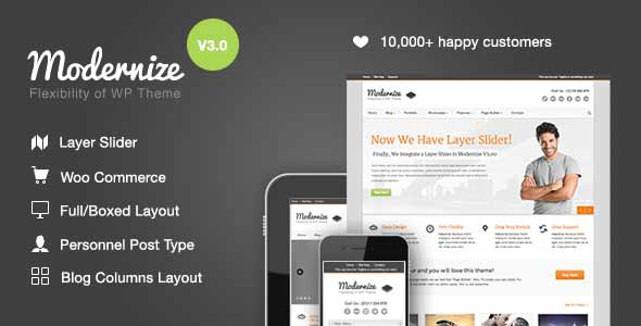 modernize best selling theme