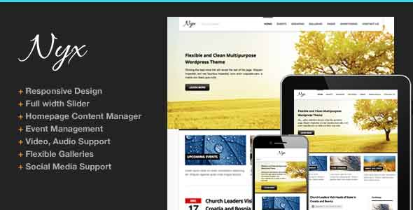 nyx responsive church theme