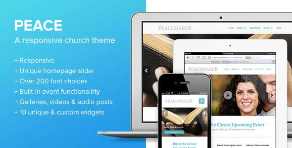 peace responsive church theme