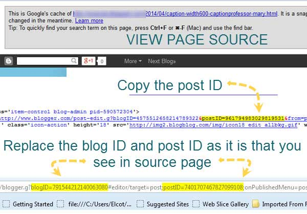 How to recover deleted blog post in Blogger