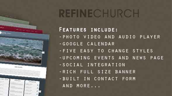 refine church template