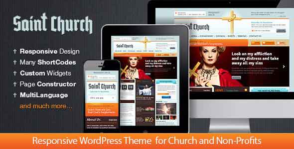 Saint church non profit theme