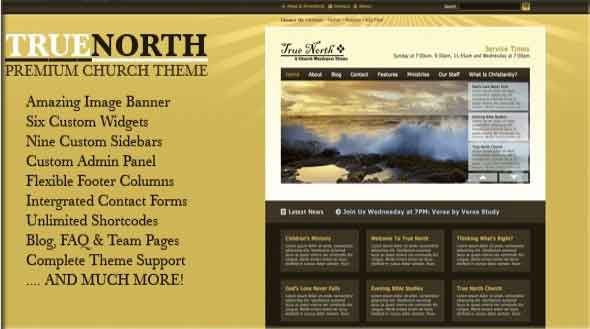 true north church theme wordpress