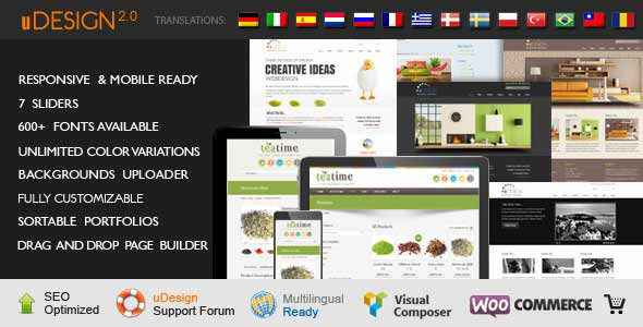udesign top sellling wordpress theme