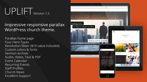 responsive wordpres theme for churches